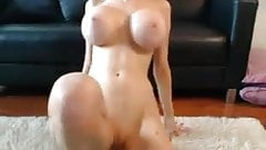Tall Sexy Blonde Teases & Toys On Cam