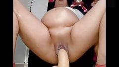 Huge dildo pregnant latina