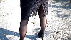 Brilliant nylon tights and heels