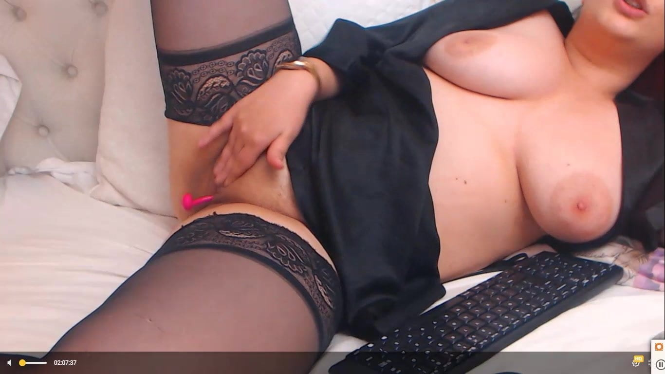 Big titty babe strips and fingers pussy and butthole
