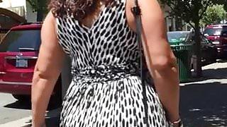 Big Plump Butt Greek Lady in Dress