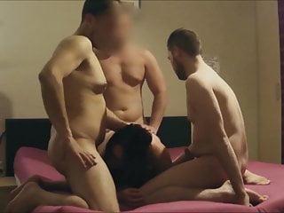 Slutrocknroll the Belgian whore gangbanged
