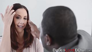 Busty Chanel Preston loves the taste of a black boner