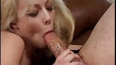 Blond milf giving hot blowjob