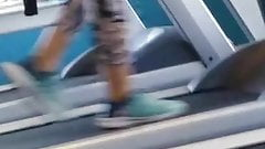Desi Booty on Treadmill