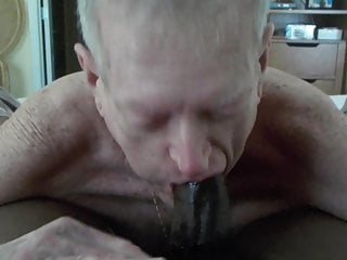 Grandpa sucks and eats cum