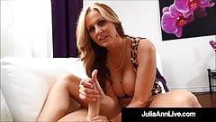 Smoking Hot Cougar Julia Ann Sucks & Strokes POV Cock!