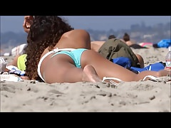 Sexy nice ass on the beach