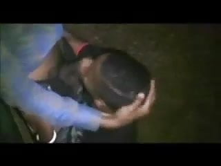 Moaning Black Twink fucked in the Park by Night