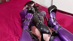 Bondage In Purple Latex