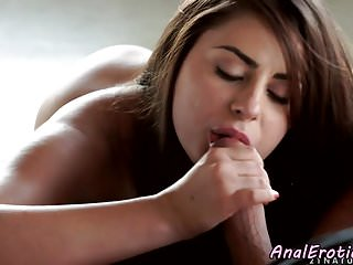 Seductive girlfriend assfucked on all fours