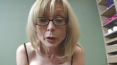 Nina Hartley loves black stockings