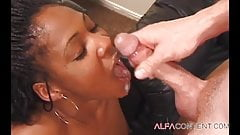 Black slut drilled with white cock