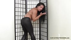 I love it when a guy eats their own cum for me CEI