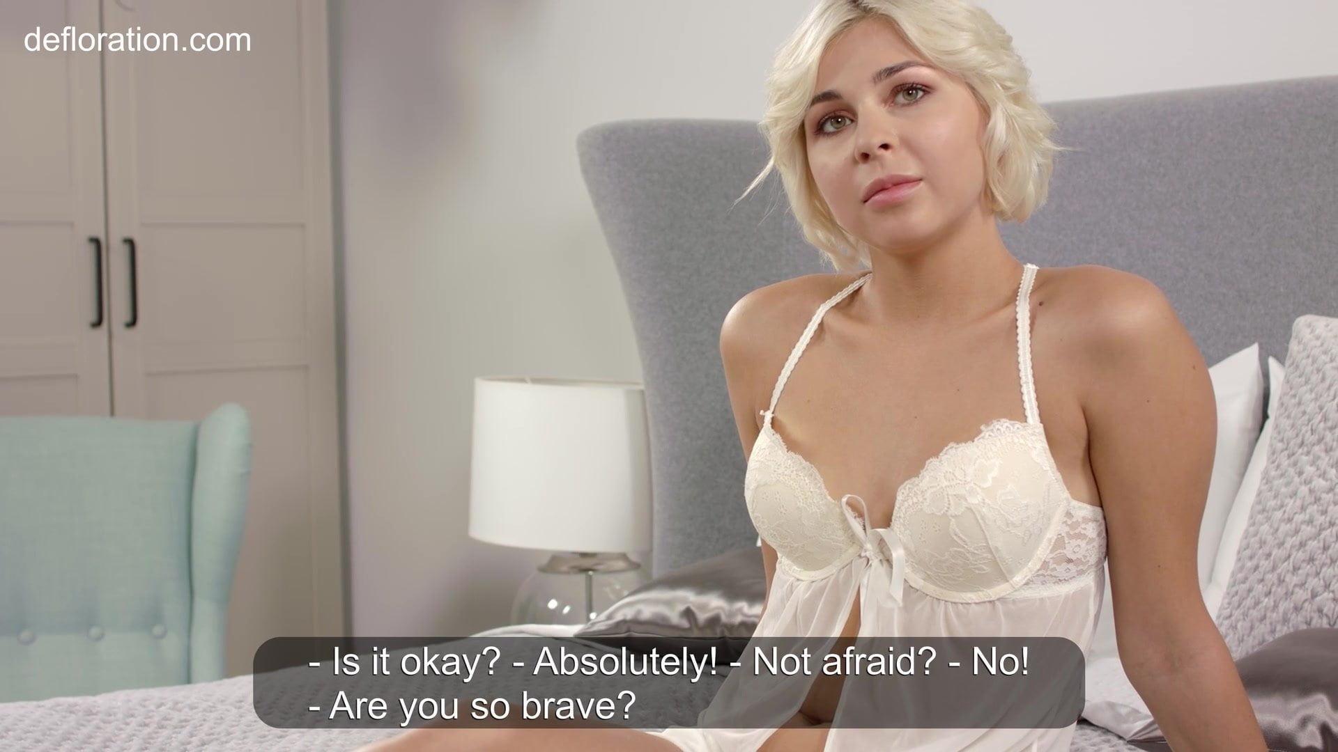 Actual virgin lady Masha Johanson will present us her hymen!