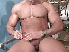 Muscle God Buck Branson Muscle Flexing Jerk Off & Cums