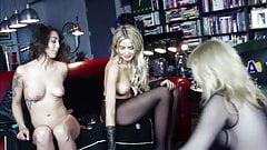 Mature lady teaching two hot girls pleasure