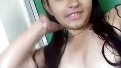 indian girl  Shy Colg Babe Teena Selfie wid Audio