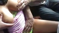 softcore fake brunette fondled public