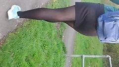 Candid Pantyhose short skirt