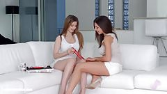 Henessy and Stella Cox in Christmas came late lesbian scene