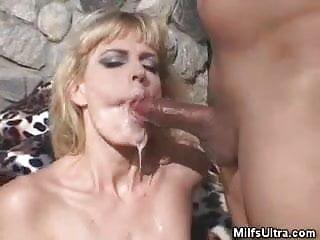 Blonde Milf Vixen Gangbanged And Jizzed On