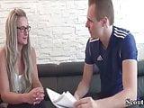 German Teen Makler fucks with Stranger for contract