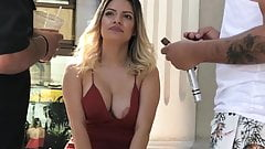 LATINA NIPPLE SLIP AT RESTAURANT
