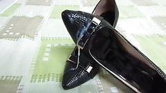 Cum wife's heels, shoes, bra. Nice heels, shoes, bra .w33