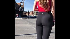 Sizzling Hot Teen Sexy Leggings Ass