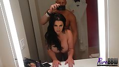 BTS clip of super busty newbie Paige London getting fucked