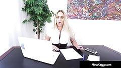 Big Butt Boss Nina Kayy Bangs Big Black Cock Employee!'s Thumb
