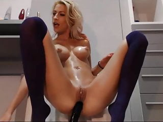 blonde girl nice breasts on cam