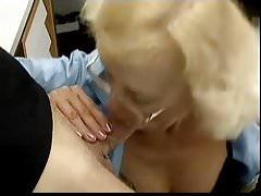 Mature blonde slut anal and facial