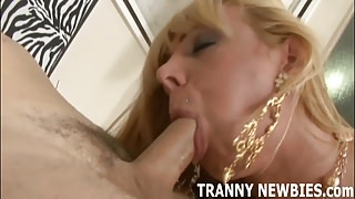 My tranny cock is going deep in that virgin ass