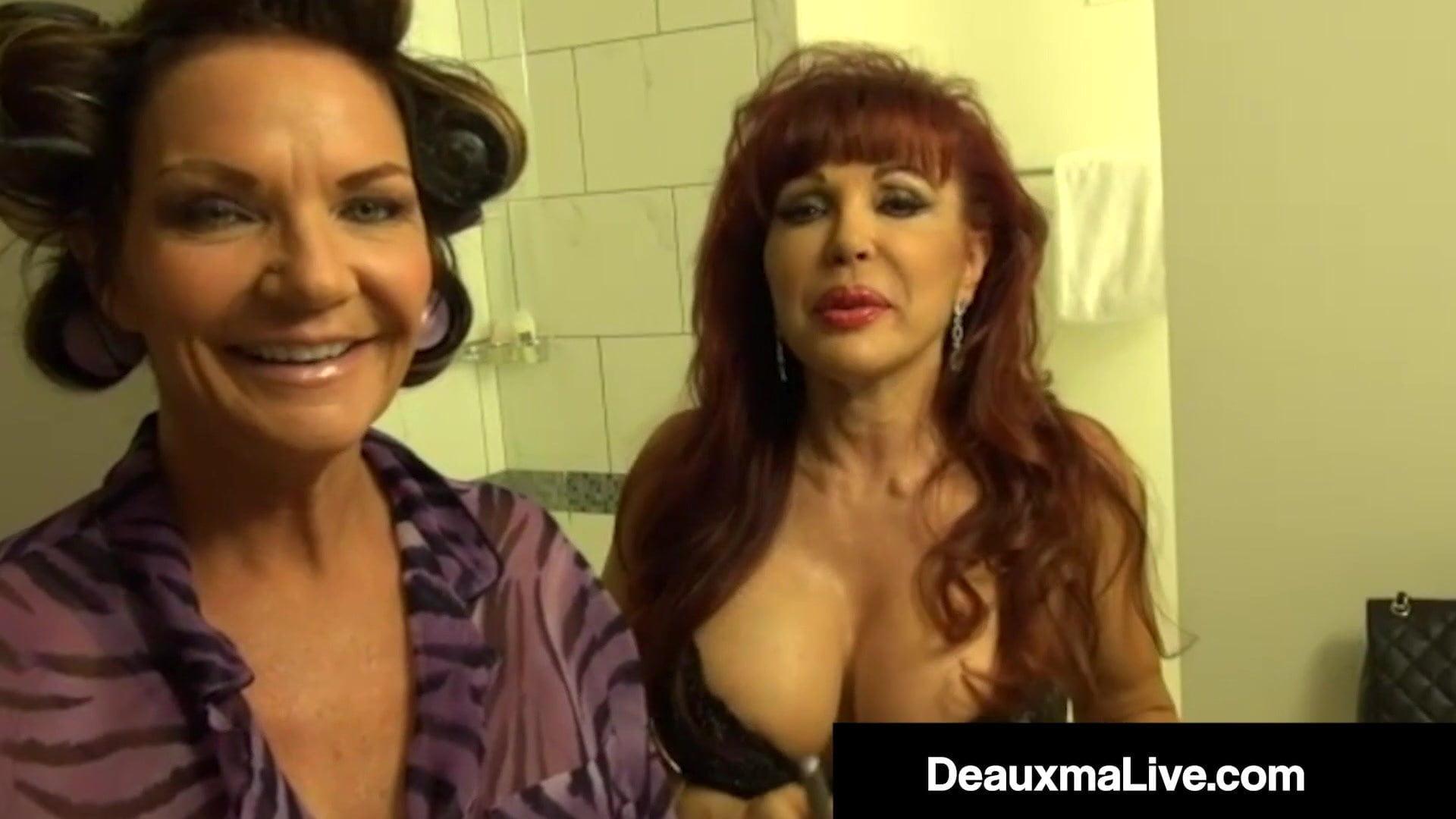 Busty Cougar Deauxma StrapOn Fucks Latina Milf Attractive Vanessa!