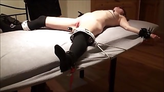 Tied up and made to cum for 1 hour- no mercy