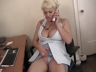 Horny Mom in the office