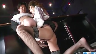 Japanese Rino Asuka spreads legs for large cock