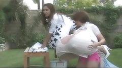 Nikki & Janeen's Big Fake Tits 2
