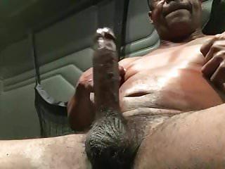 Big Dick Verbal Black Trucker Jerks Off & Cums