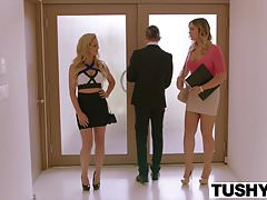 TUSHY Blair Williams Has A HOT Anal Lesson Threesome