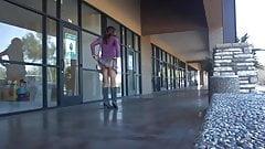 Crossdresser upskirt in public