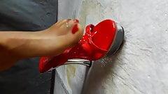 Piss high heels