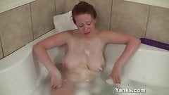 Yanks Chesty Ginny's Tight Pussy Gets Big