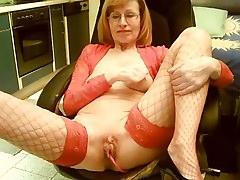 Grandma with red undies