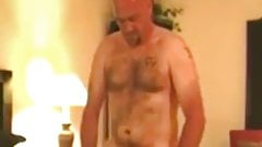 Hairy daddy fucks doggystyle and shoots huge load