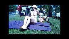 Campsite naked sunbathing
