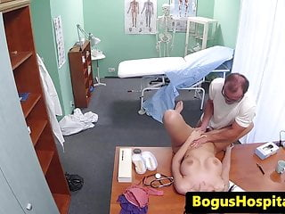 Busty euro patient receives creampie from doc