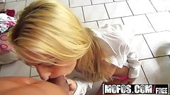 Pervs on Patrol - Dirty blonde Hailey Holiday filmed pov